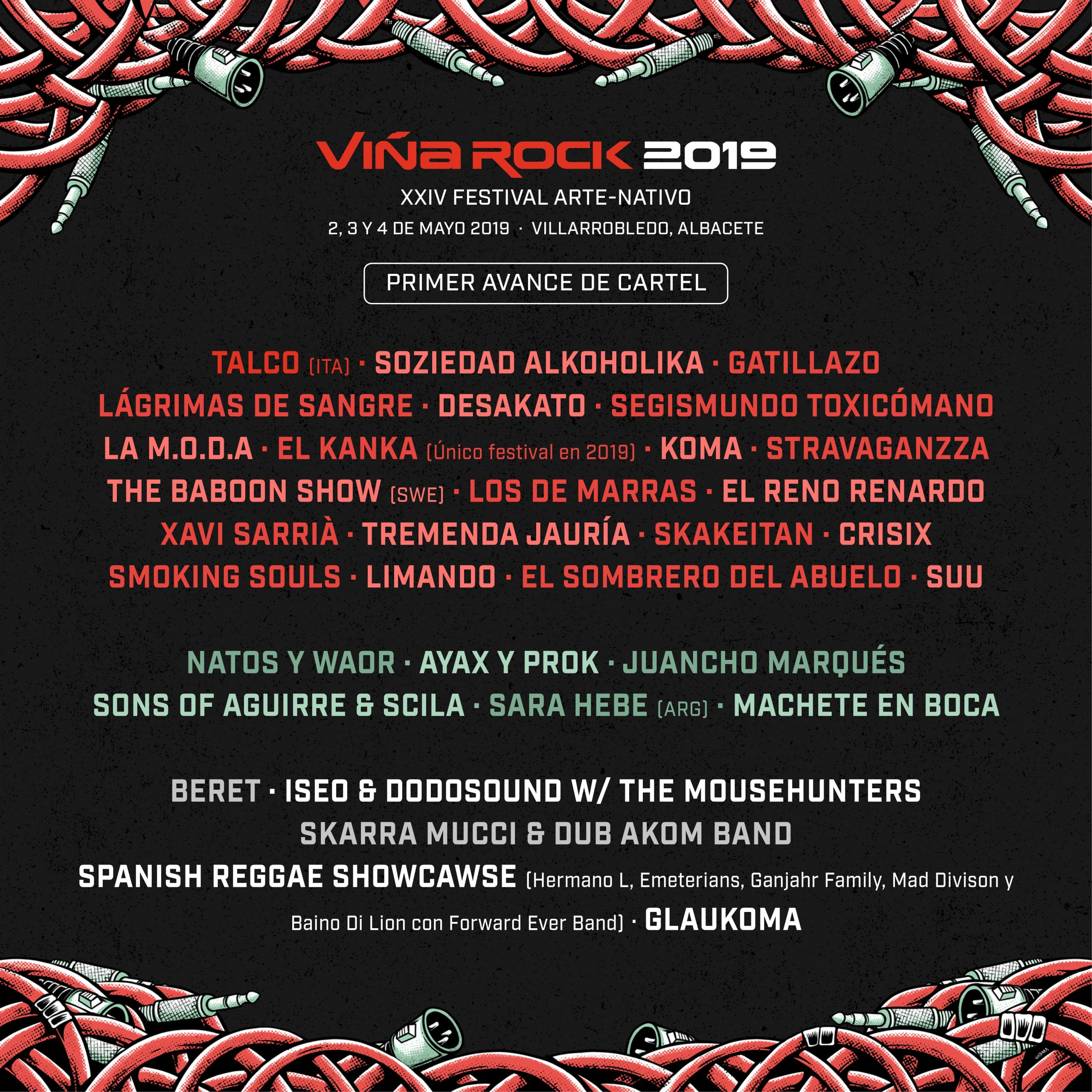 CONFIRMADOS EN VIÑA ROCK 2019