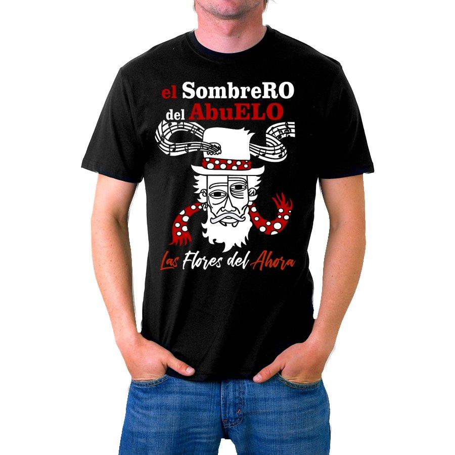 Camiseta negra unisex «Las Flores del Ahora»