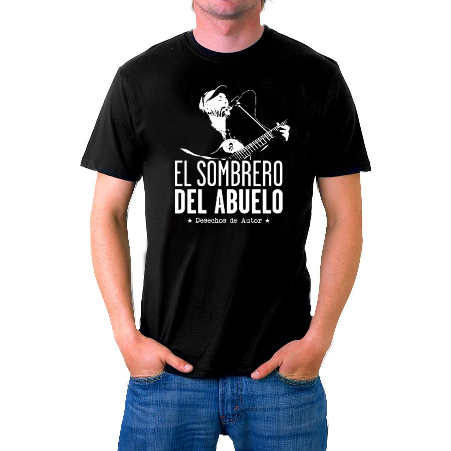 Camiseta negra unisex «Desechos de autor»