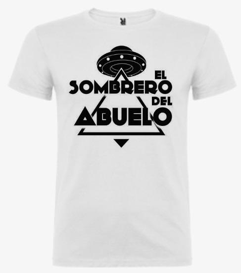Camiseta blanca unisex logo platillo