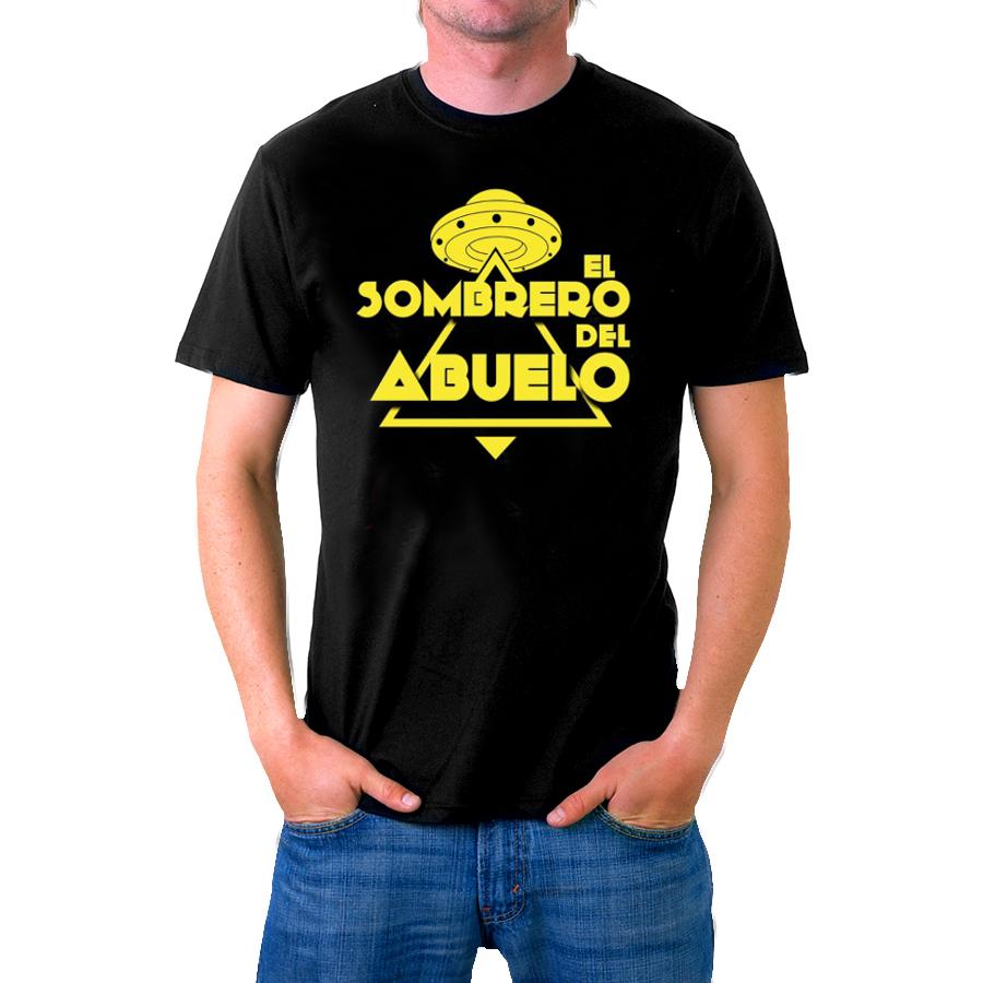 Camiseta negra unisex logo platillo